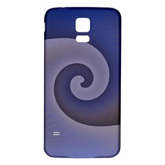 Logo Wave Design Abstract Samsung Galaxy S5 Back Case (white)