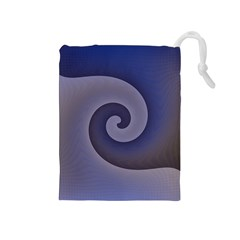 Logo Wave Design Abstract Drawstring Pouches (medium)  by Simbadda