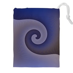 Logo Wave Design Abstract Drawstring Pouches (xxl) by Simbadda