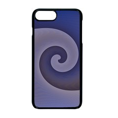 Logo Wave Design Abstract Apple Iphone 7 Plus Seamless Case (black) by Simbadda