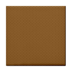 Pattern Honeycomb Pattern Brown Tile Coasters by Simbadda