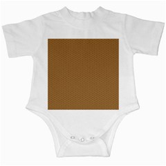 Pattern Honeycomb Pattern Brown Infant Creepers by Simbadda