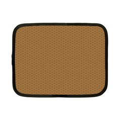 Pattern Honeycomb Pattern Brown Netbook Case (small)  by Simbadda