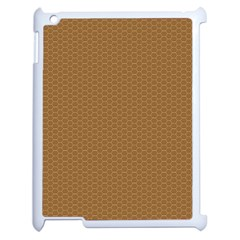 Pattern Honeycomb Pattern Brown Apple Ipad 2 Case (white) by Simbadda