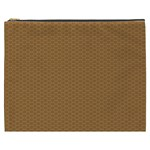 Pattern Honeycomb Pattern Brown Cosmetic Bag (XXXL)  Front