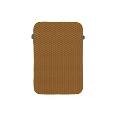 Pattern Honeycomb Pattern Brown Apple Ipad Mini Protective Soft Cases by Simbadda
