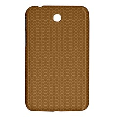 Pattern Honeycomb Pattern Brown Samsung Galaxy Tab 3 (7 ) P3200 Hardshell Case  by Simbadda