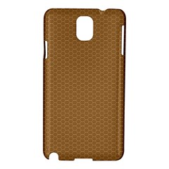 Pattern Honeycomb Pattern Brown Samsung Galaxy Note 3 N9005 Hardshell Case by Simbadda