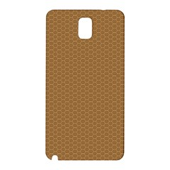 Pattern Honeycomb Pattern Brown Samsung Galaxy Note 3 N9005 Hardshell Back Case by Simbadda