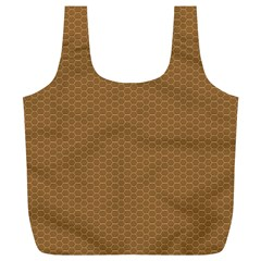 Pattern Honeycomb Pattern Brown Full Print Recycle Bags (l)  by Simbadda