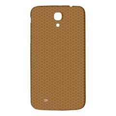 Pattern Honeycomb Pattern Brown Samsung Galaxy Mega I9200 Hardshell Back Case by Simbadda