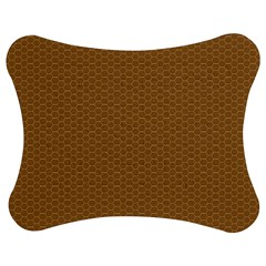 Pattern Honeycomb Pattern Brown Jigsaw Puzzle Photo Stand (bow) by Simbadda