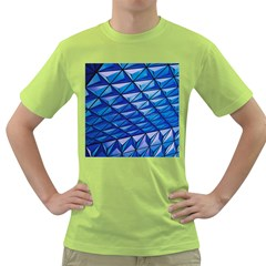 Lines Geometry Architecture Texture Green T-shirt by Simbadda