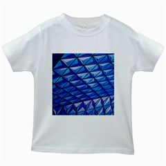 Lines Geometry Architecture Texture Kids White T Shirts by Simbadda