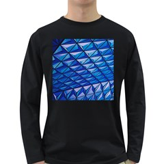 Lines Geometry Architecture Texture Long Sleeve Dark T Shirts by Simbadda