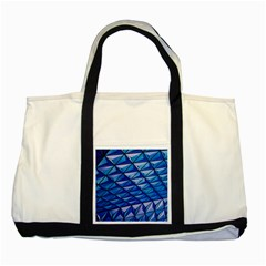 Lines Geometry Architecture Texture Two Tone Tote Bag by Simbadda