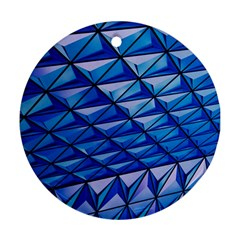 Lines Geometry Architecture Texture Round Ornament (two Sides) by Simbadda