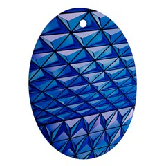 Lines Geometry Architecture Texture Oval Ornament (two Sides) by Simbadda