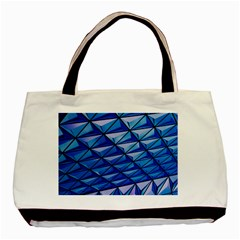 Lines Geometry Architecture Texture Basic Tote Bag (two Sides) by Simbadda