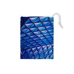 Lines Geometry Architecture Texture Drawstring Pouches (small)  by Simbadda