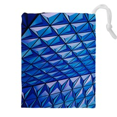 Lines Geometry Architecture Texture Drawstring Pouches (xxl) by Simbadda