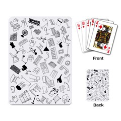 Furniture Black Decor Pattern Playing Card by Simbadda