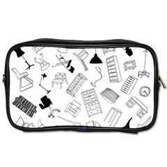 Furniture Black Decor Pattern Toiletries Bags 2 Side by Simbadda