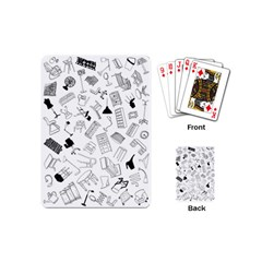 Furniture Black Decor Pattern Playing Cards (mini)  by Simbadda