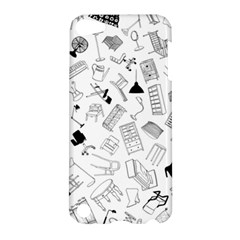 Furniture Black Decor Pattern Apple Ipod Touch 5 Hardshell Case by Simbadda