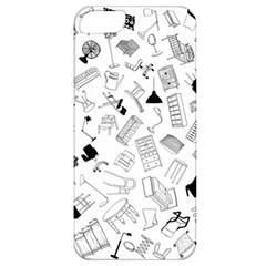 Furniture Black Decor Pattern Apple Iphone 5 Classic Hardshell Case by Simbadda