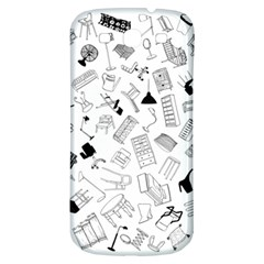 Furniture Black Decor Pattern Samsung Galaxy S3 S Iii Classic Hardshell Back Case by Simbadda