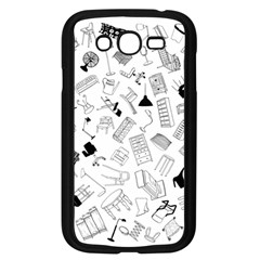 Furniture Black Decor Pattern Samsung Galaxy Grand Duos I9082 Case (black) by Simbadda