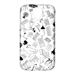 Furniture Black Decor Pattern Samsung Galaxy S4 Classic Hardshell Case (pc+silicone) by Simbadda