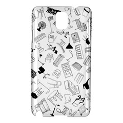 Furniture Black Decor Pattern Samsung Galaxy Note 3 N9005 Hardshell Case by Simbadda