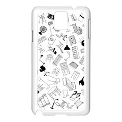 Furniture Black Decor Pattern Samsung Galaxy Note 3 N9005 Case (white) by Simbadda