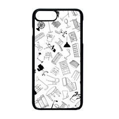 Furniture Black Decor Pattern Apple Iphone 7 Plus Seamless Case (black)