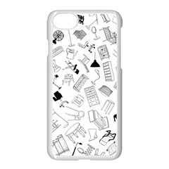 Furniture Black Decor Pattern Apple Iphone 7 Seamless Case (white) by Simbadda