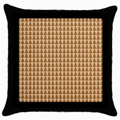 Pattern Gingerbread Brown Throw Pillow Case (black)