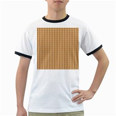 Pattern Gingerbread Brown Ringer T Shirts by Simbadda