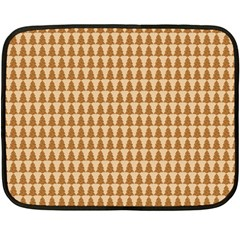 Pattern Gingerbread Brown Double Sided Fleece Blanket (mini)  by Simbadda