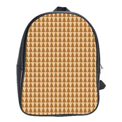 Pattern Gingerbread Brown School Bags(large)  by Simbadda