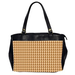 Pattern Gingerbread Brown Office Handbags (2 Sides)