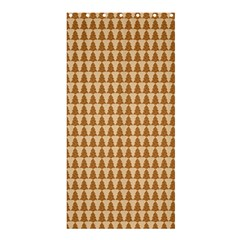 Pattern Gingerbread Brown Shower Curtain 36  X 72  (stall)  by Simbadda