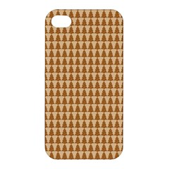 Pattern Gingerbread Brown Apple Iphone 4/4s Premium Hardshell Case by Simbadda