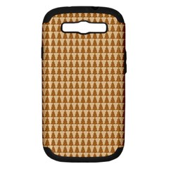 Pattern Gingerbread Brown Samsung Galaxy S Iii Hardshell Case (pc+silicone) by Simbadda