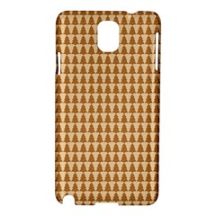 Pattern Gingerbread Brown Samsung Galaxy Note 3 N9005 Hardshell Case by Simbadda