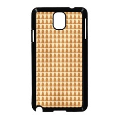 Pattern Gingerbread Brown Samsung Galaxy Note 3 Neo Hardshell Case (black) by Simbadda