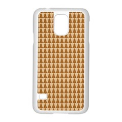 Pattern Gingerbread Brown Samsung Galaxy S5 Case (white) by Simbadda