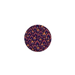 Abstract Background Floral Pattern 1  Mini Buttons by Simbadda