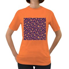 Abstract Background Floral Pattern Women s Dark T Shirt by Simbadda